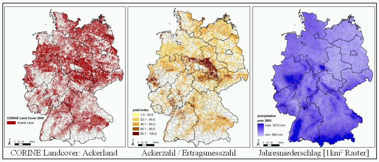 bodenpunkte karte deutschland Potenzialstudien Biomasse