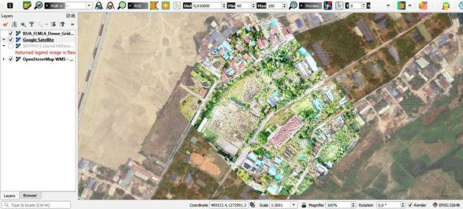 UAV Orthoimage PART of RUA campus with FLMLA buildings